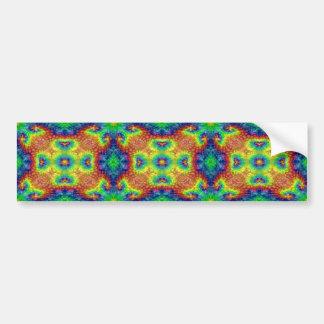 Tie Dye Sky Vintage Kaleidoscope Bumper Sticker