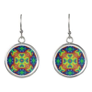 Tie Dye Sky  Vintage Kaleidoscope  Drop Earrings