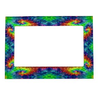 Tie Dye Sky Vintage Kaleidoscope Magnetic Frames