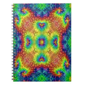 Tie Dye Sky  Vintage Kaleidoscope  Notebook