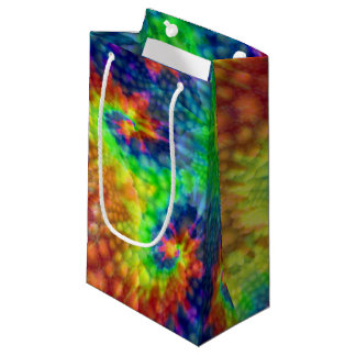Tie Dye Sky Vintage Kaleidoscope  Small Gift Bag