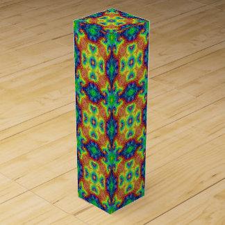 Tie Dye Sky Vintage Kaleidoscope   Wine Gift Box