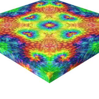 Tie Dye Sky  Vintage Kaleidoscope Wrapped Canvas