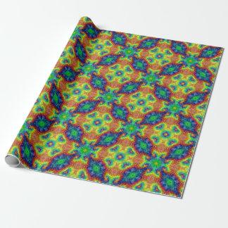 Tie Dye Sky Vintage Kaleidoscope Wrapping Paper