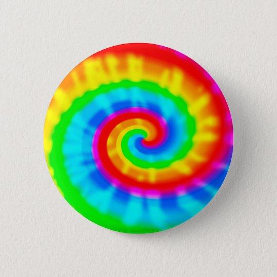 Tie Dye Spiral 6 Cm Round Badge