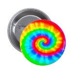 Tie Dye Spiral Pinback Buttons