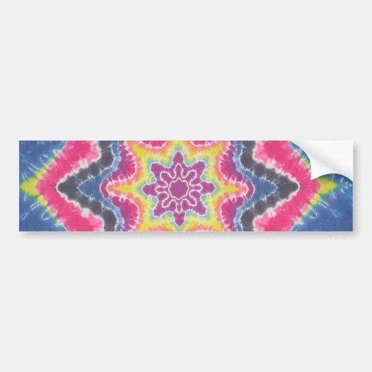 Tie Dye Star Bumper Sticker