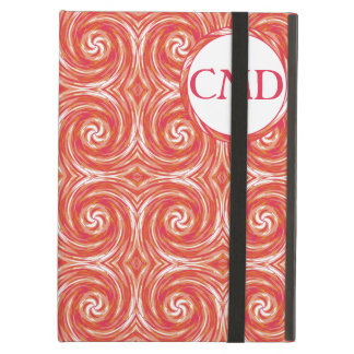 Tie-Dye Style Swirls Pattern in Orange and Pink iPad Air Cover