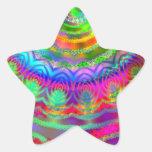 Tie Dye Target Star Stickers