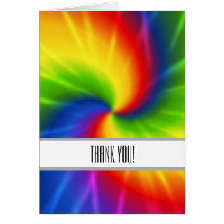 Tie dye Thank You Card