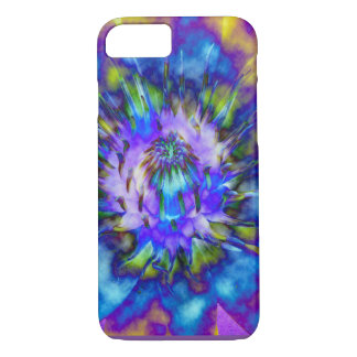 Tie Dye Water Lily Design iPhone 7 Case