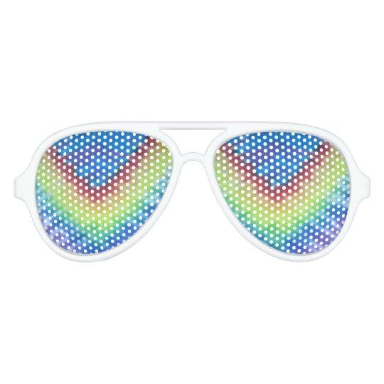 tie dye white aviator sunglasses blue purple V