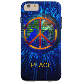 Tie-dyed 60s Hippie Peace on Earth Theme Tough iPhone 6 Plus Case