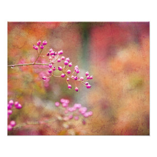 Tie Dyed Berries In Pink Orange And Gold Art Photo