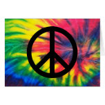 Tie Dyed Black Peace Sign Cards