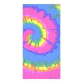 Tie-Dyed Custom Photo Card