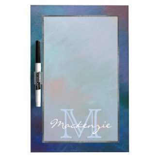 Tie-Dyed | Dark Blue Green Purple Red Cool Dry Erase Board