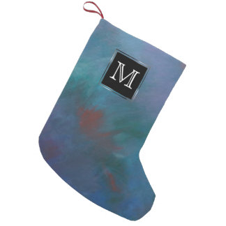 Tie-Dyed | Dark Blue Green Purple Red Cool Small Christmas Stocking