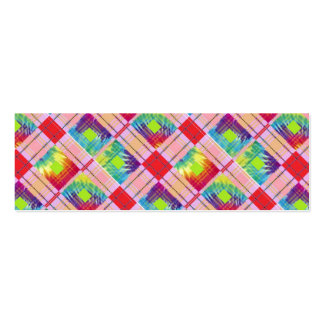 Tie dyed expression pack of skinny business cards