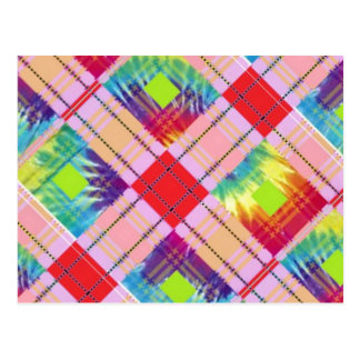 Tie dyed expression postcard