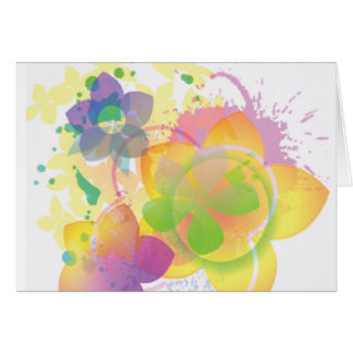 Tie-Dyed Flowers 2 Greeting Card