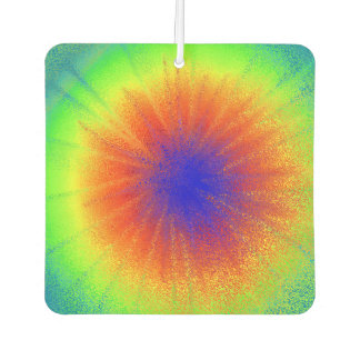 Tie Dyed New Car Square Air Freshener