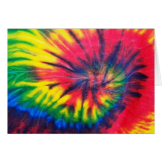 Tie Dyed Pattern Greeting Card