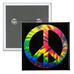 Tie Dyed Peace Pin