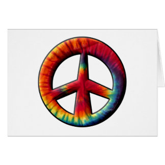 Tie Dyed Peace Sign Greeting Card