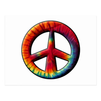 Tie Dyed Peace Sign Postcard