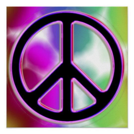 Tie Dyed Peace Sign Poster