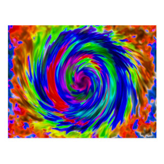Tie Dyed Postcard