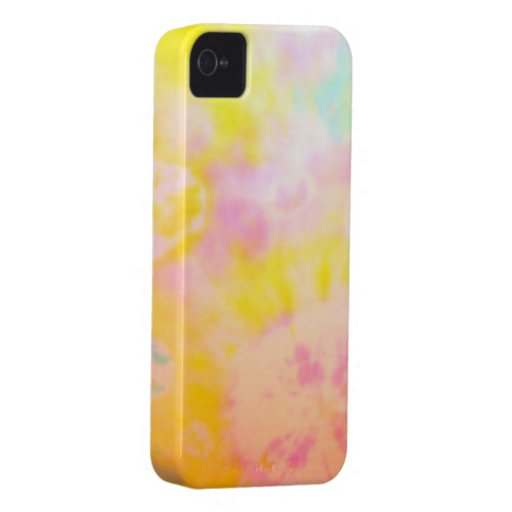 Tie Dyed Yellow Watercolor-like Batik texture iPhone 4 Cases
