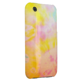Tie Dyed Yellow Watercolor-like Batik texture iPhone 3 Case-Mate Cases