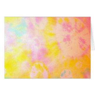 Tie Dyed Yellow Watercolor-like Batik texture Greeting Card