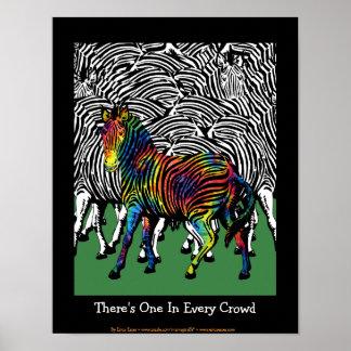 Tie-Dyed Zebra Poster