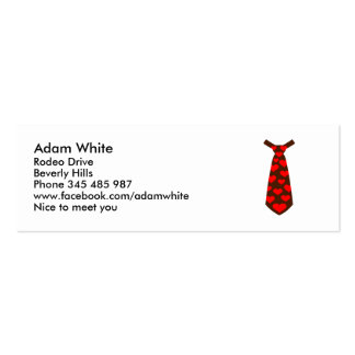 Tie hearts suit tuxedo business card template