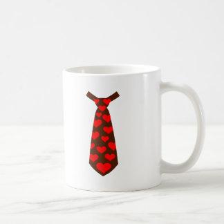Tie hearts suit tuxedo mug