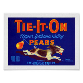 Tie-It-On Pears Poster