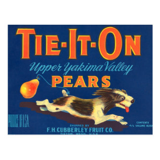 Tie-It-On Pears Vintage Advertisement Postcard