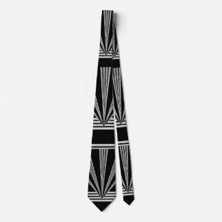 Tie Silver Black Art Deco 2