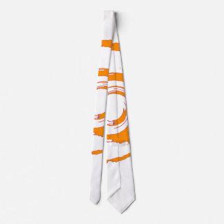 Tie with Big Orange Twirl