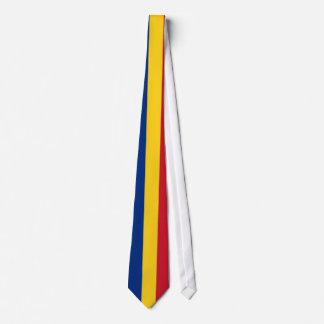 Tie with Flag of Romania