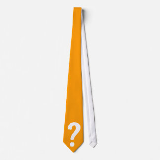 Tie with question sign?