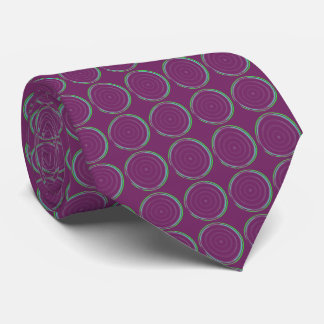 Tie with Tiled Circular Design