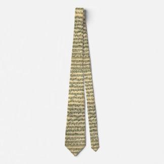Tied Chaconne Bach Music Manuscript Tie