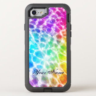 Tiedye Hippie Rainbow Swimming Pool Effect OtterBox Defender iPhone 7 Case
