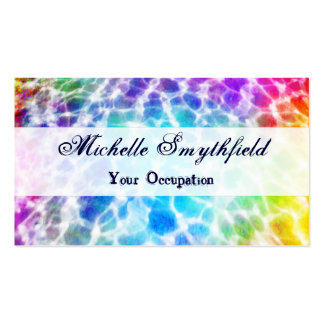 Tiedye Hippie Wavy Rainbow Effect Pack Of Standard Business Cards