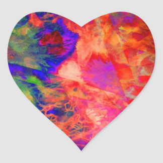 tiedye space 1 heart sticker