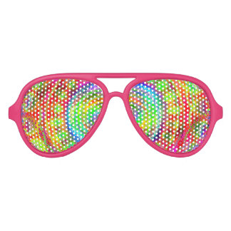 Tiedye Target Aviator Sunglasses